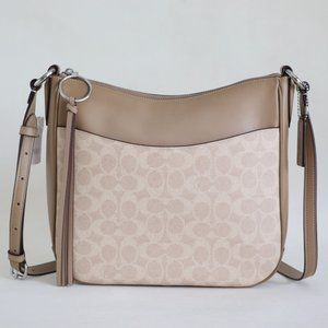 Coach Chaise Signature Crossbody Bag Sand Taupe